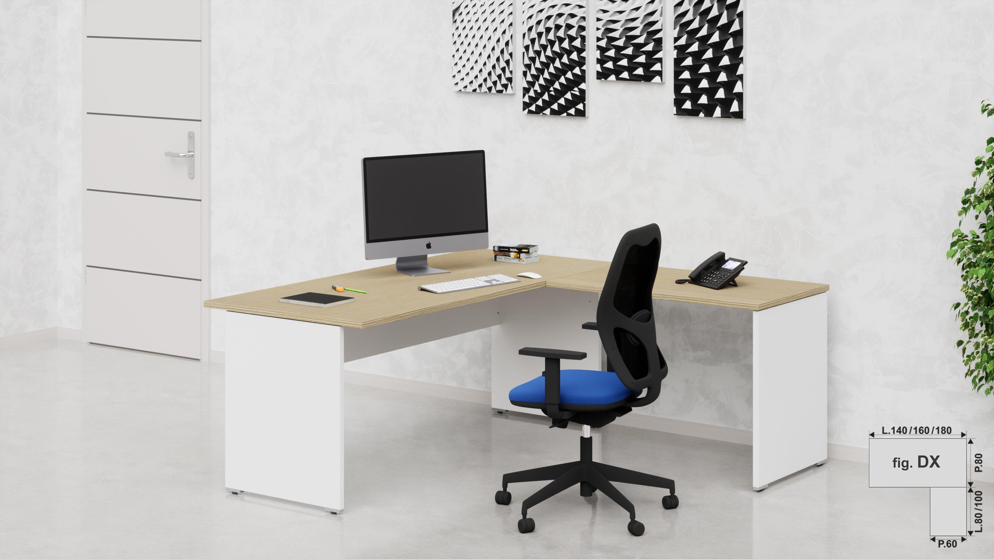 Scrivanie uffici operativi net pannello con allungo
