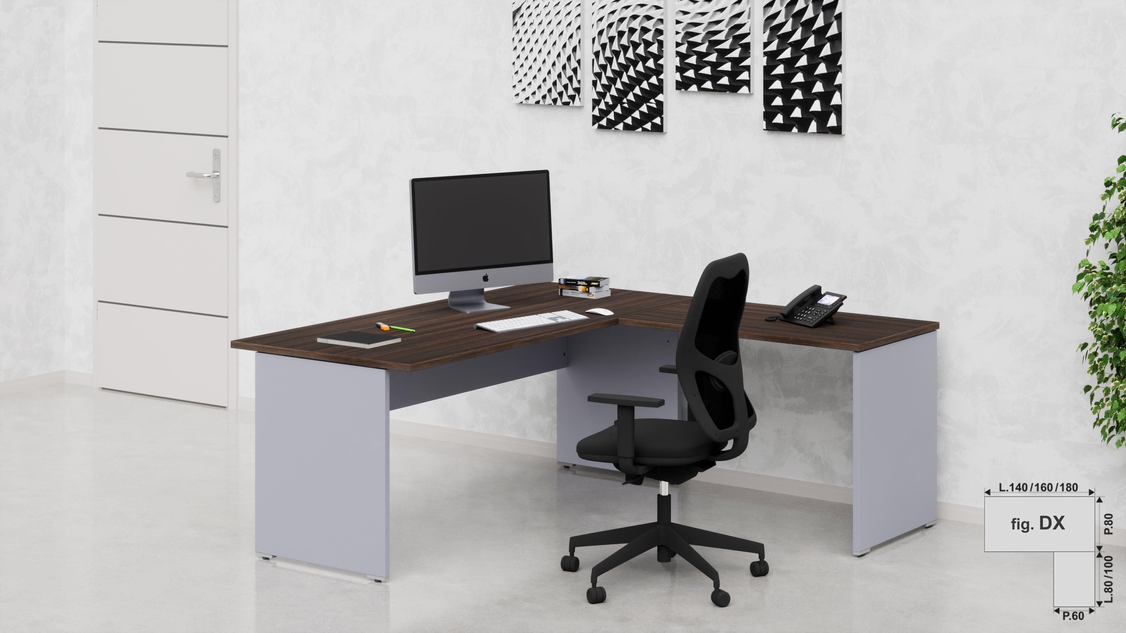 Sf015 scrivanie operative ufficio da 153 76 fumustore for Scrivanie operative ufficio