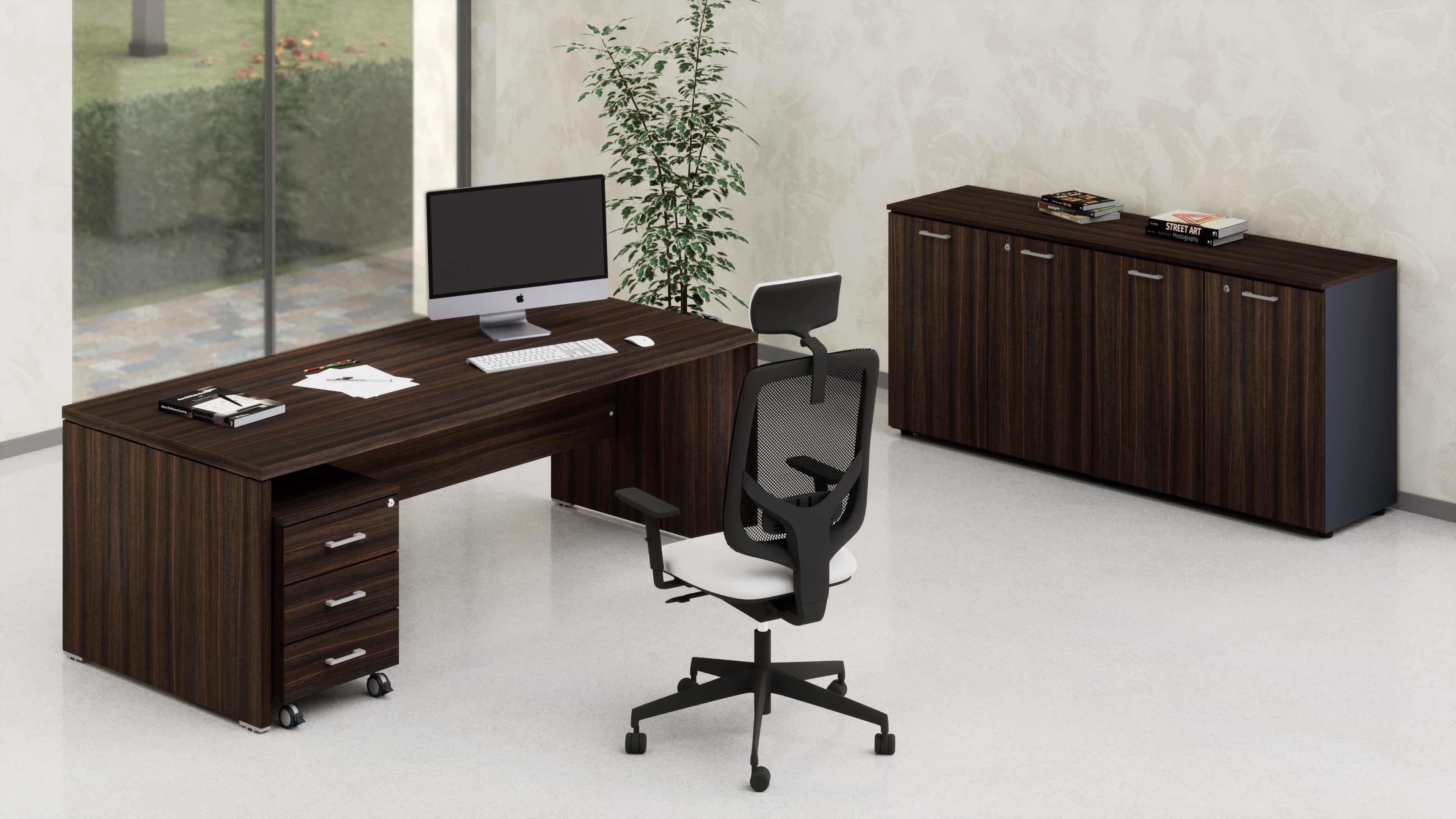 Uffici direzionali BETA scrivania, cassettiera e contenitori universali bassi