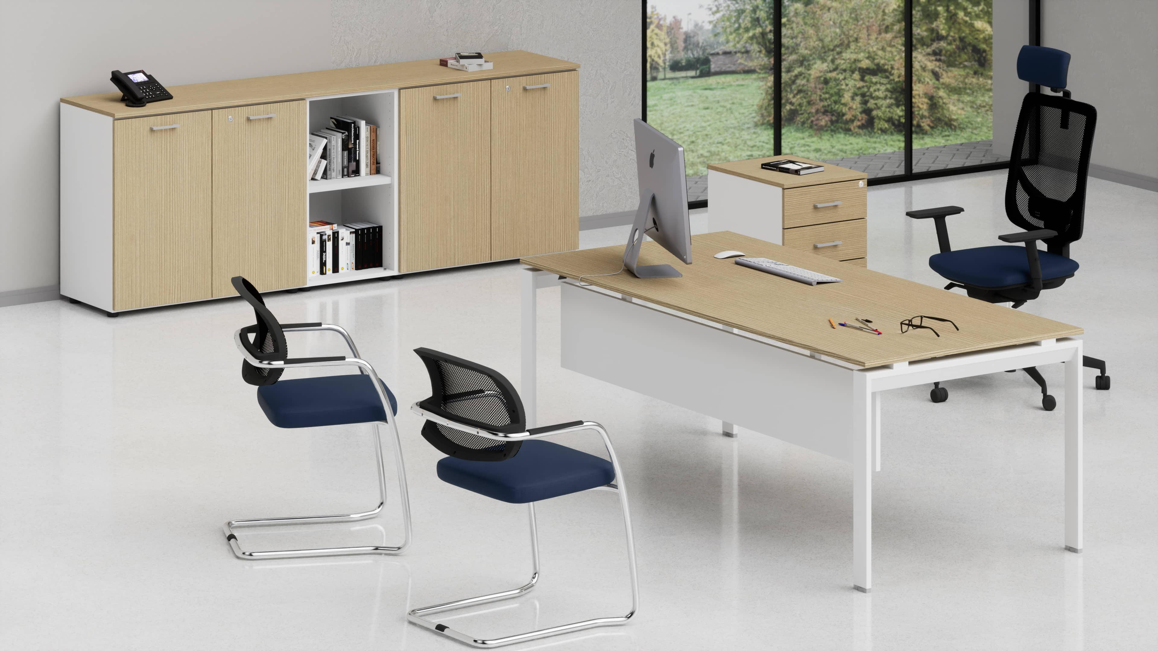 Scrivania metallica per uffici direzionali