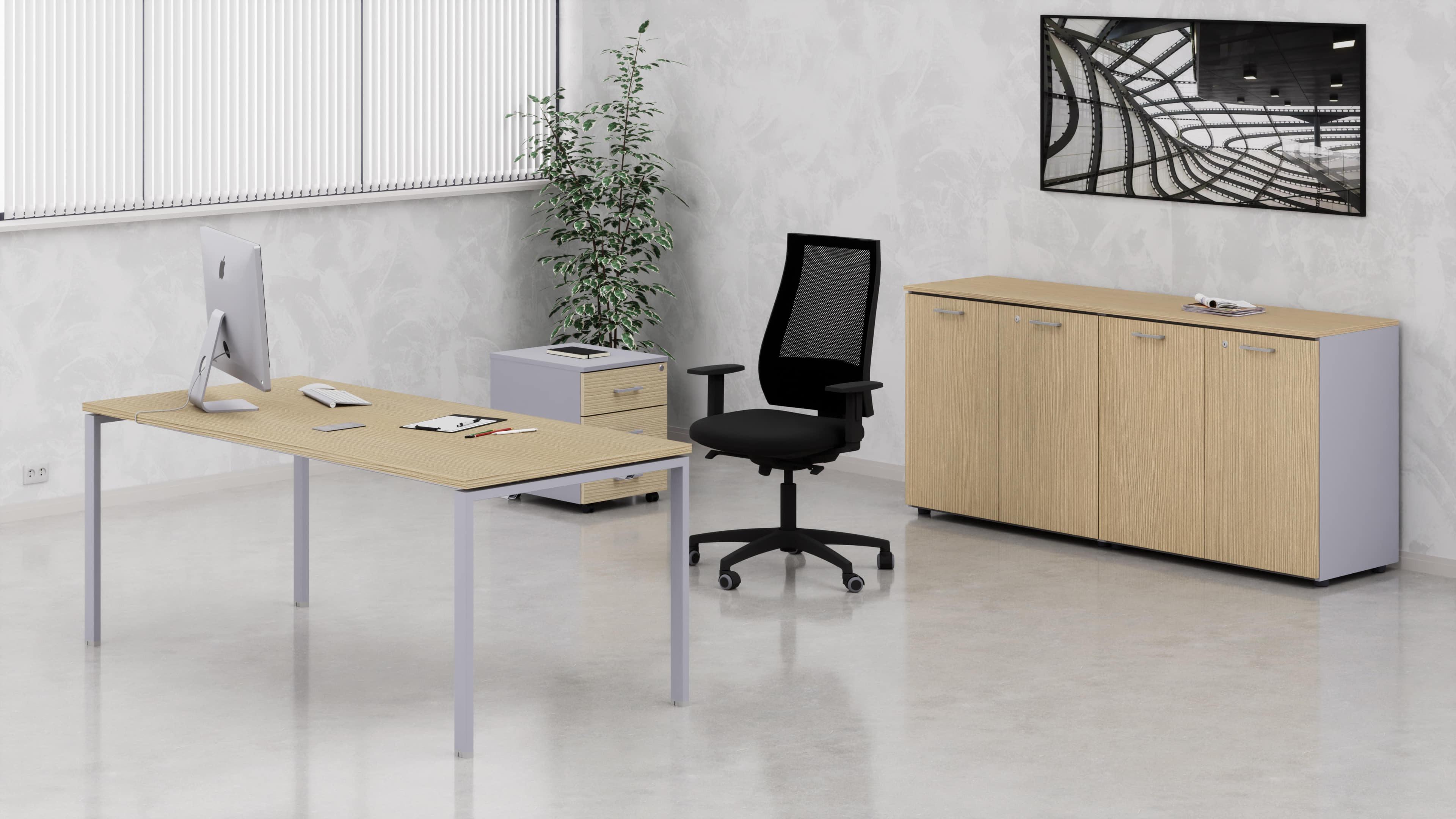 Scrivania metallica a PONTE uffici operativi