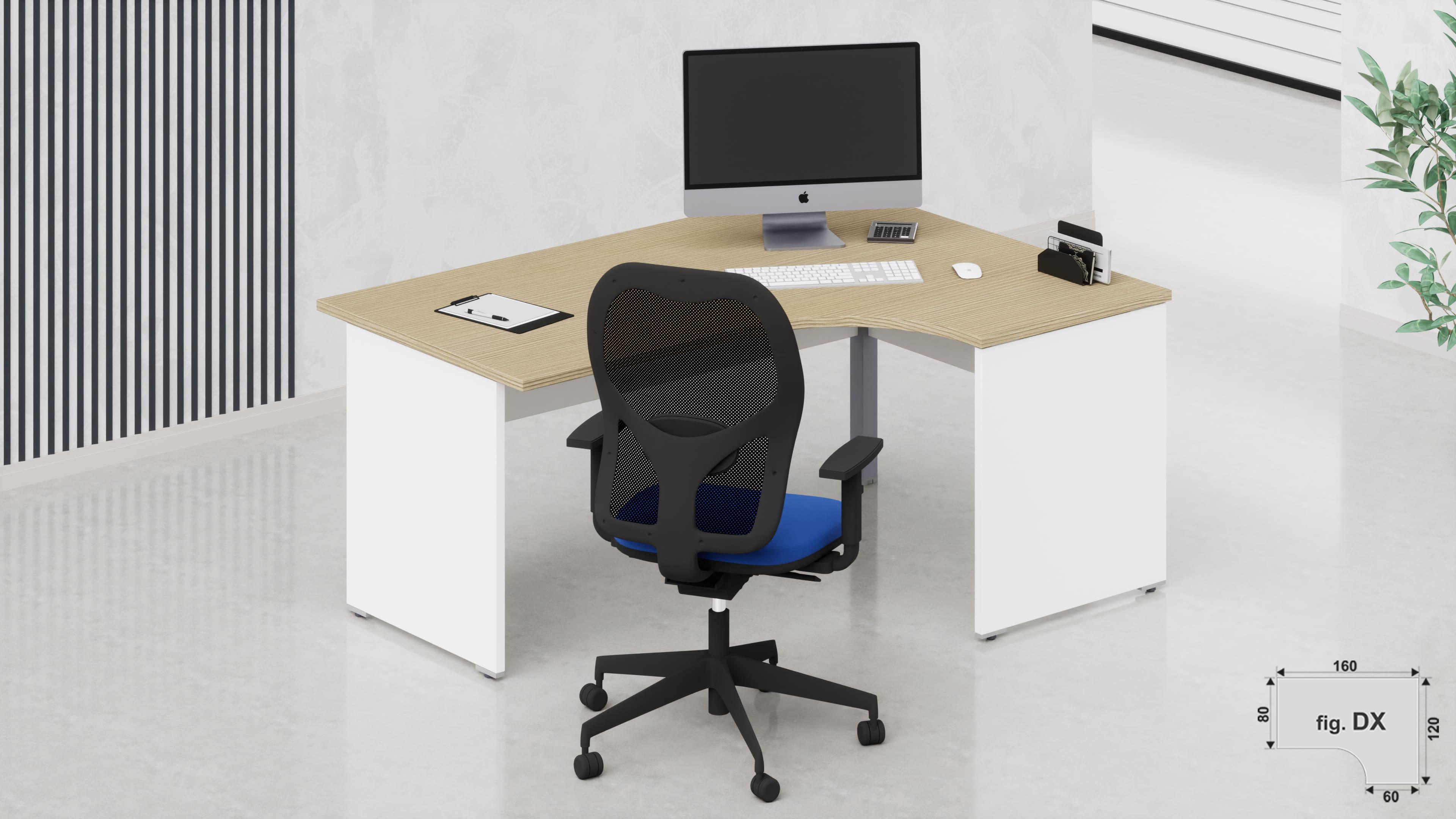 Scrivania workstation ufficio operativa NET pannello L.160/120