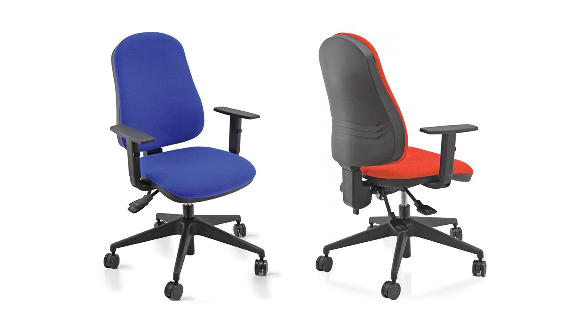Sedia da ufficio girevole con braccioli rivestimento in tessuto