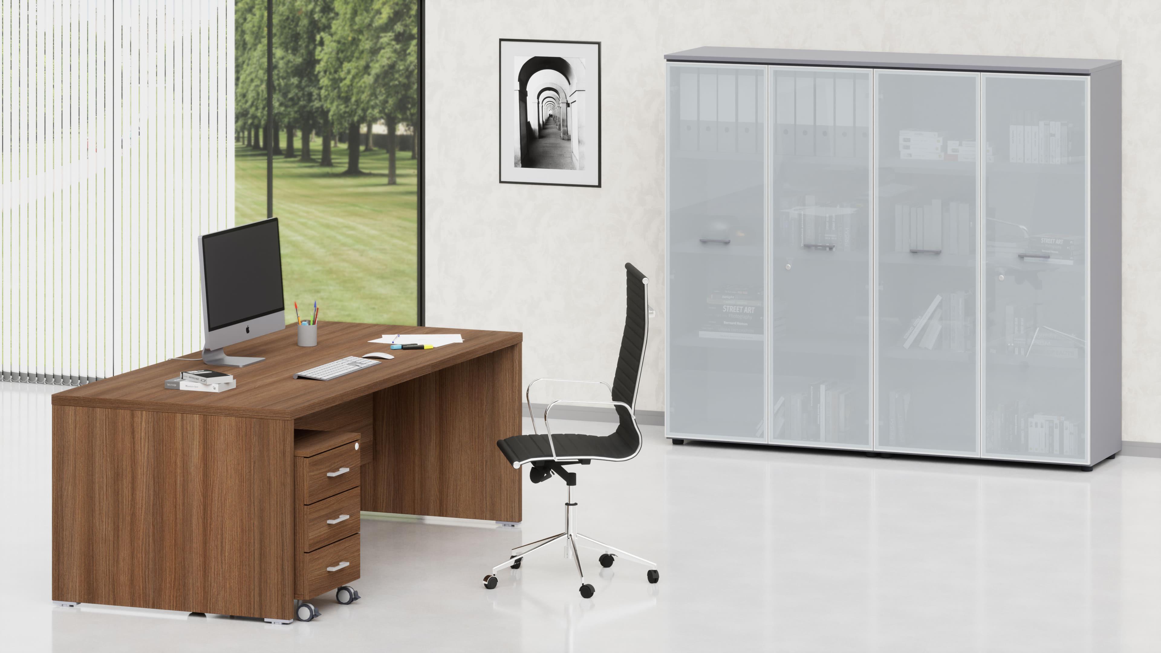 Uffici direzionali BETA scrivania, cassettiera e contenitori universali medi