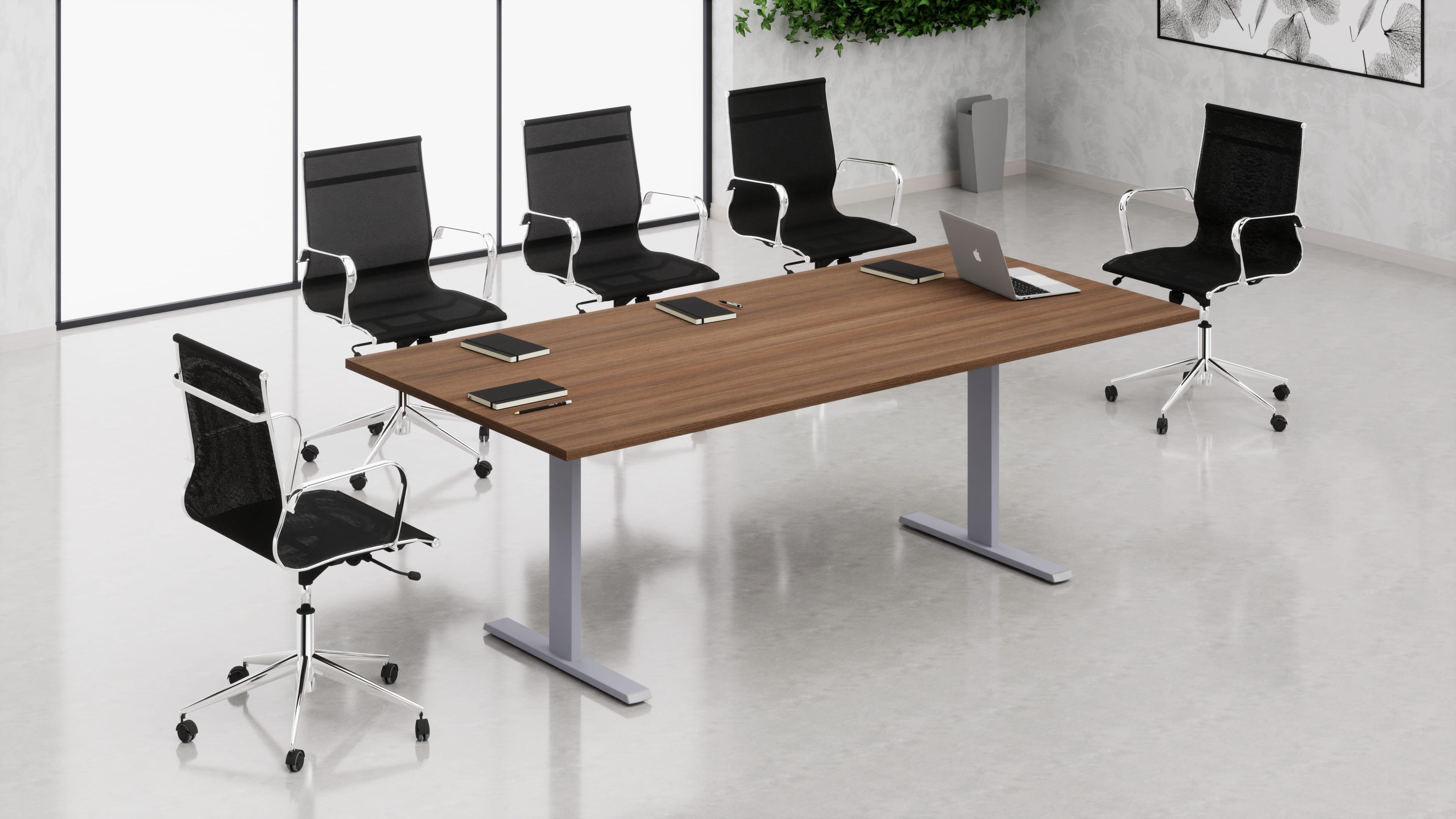 Tavolo riunione rettangolare struttura metallica a ''T''