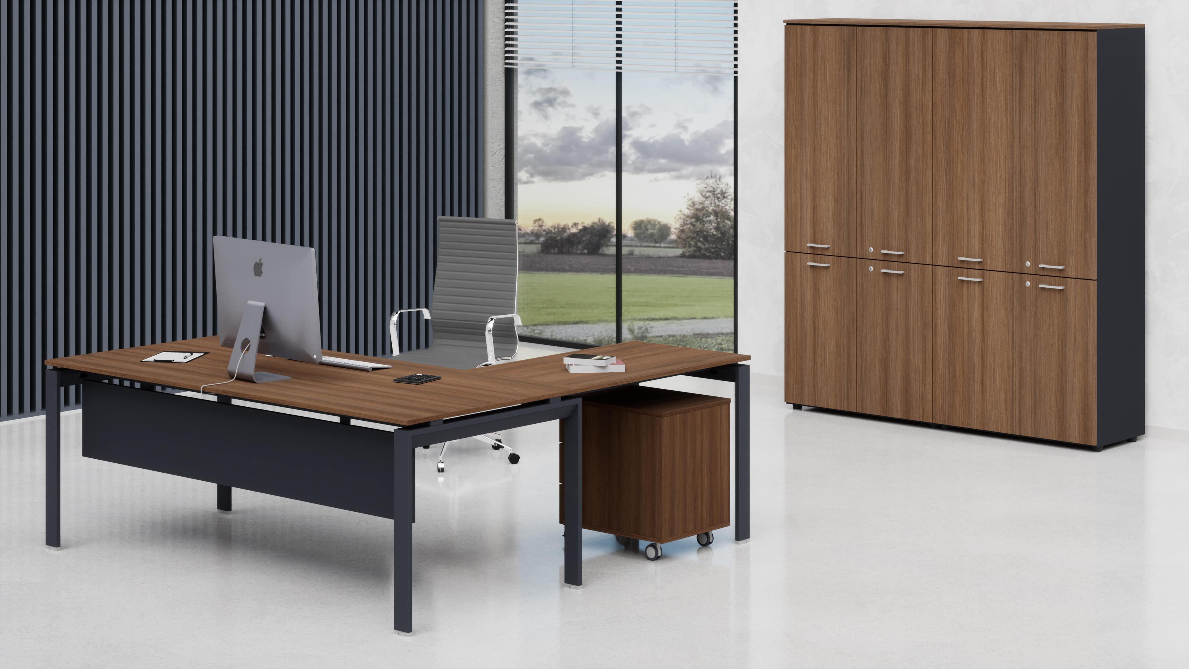 Scrivania uffici direzionali con allungo laterale