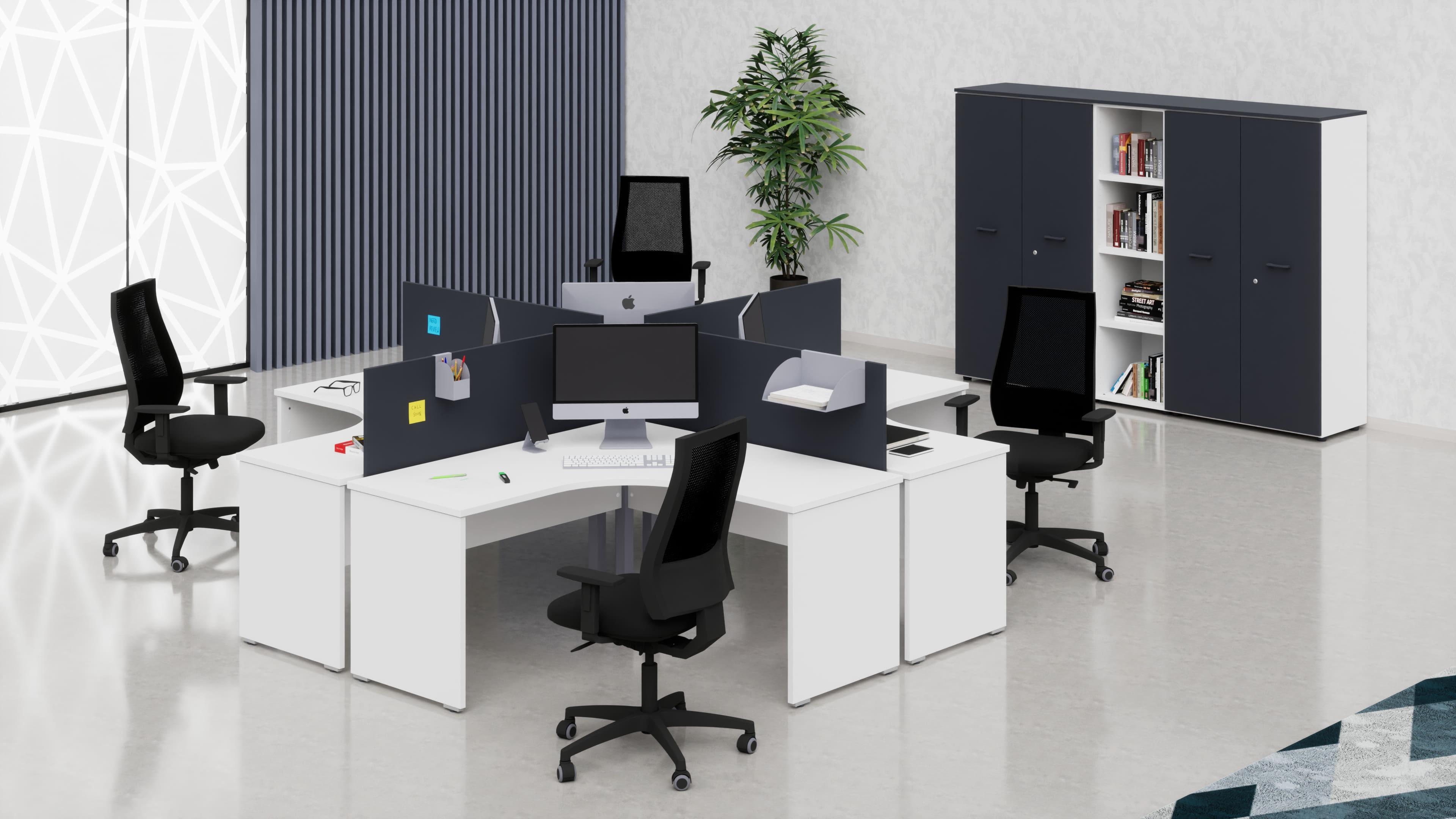 Scrivanie workstation per uffici operativi 4 postazioni