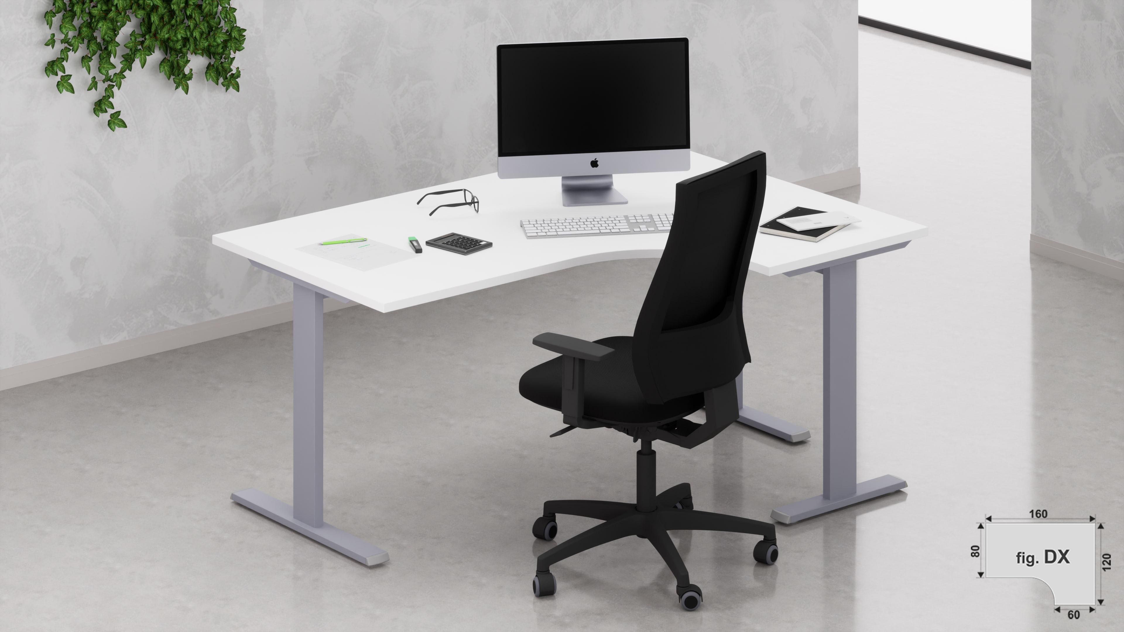 Scrivania workstation ufficio operativa NET metallica L.160/120