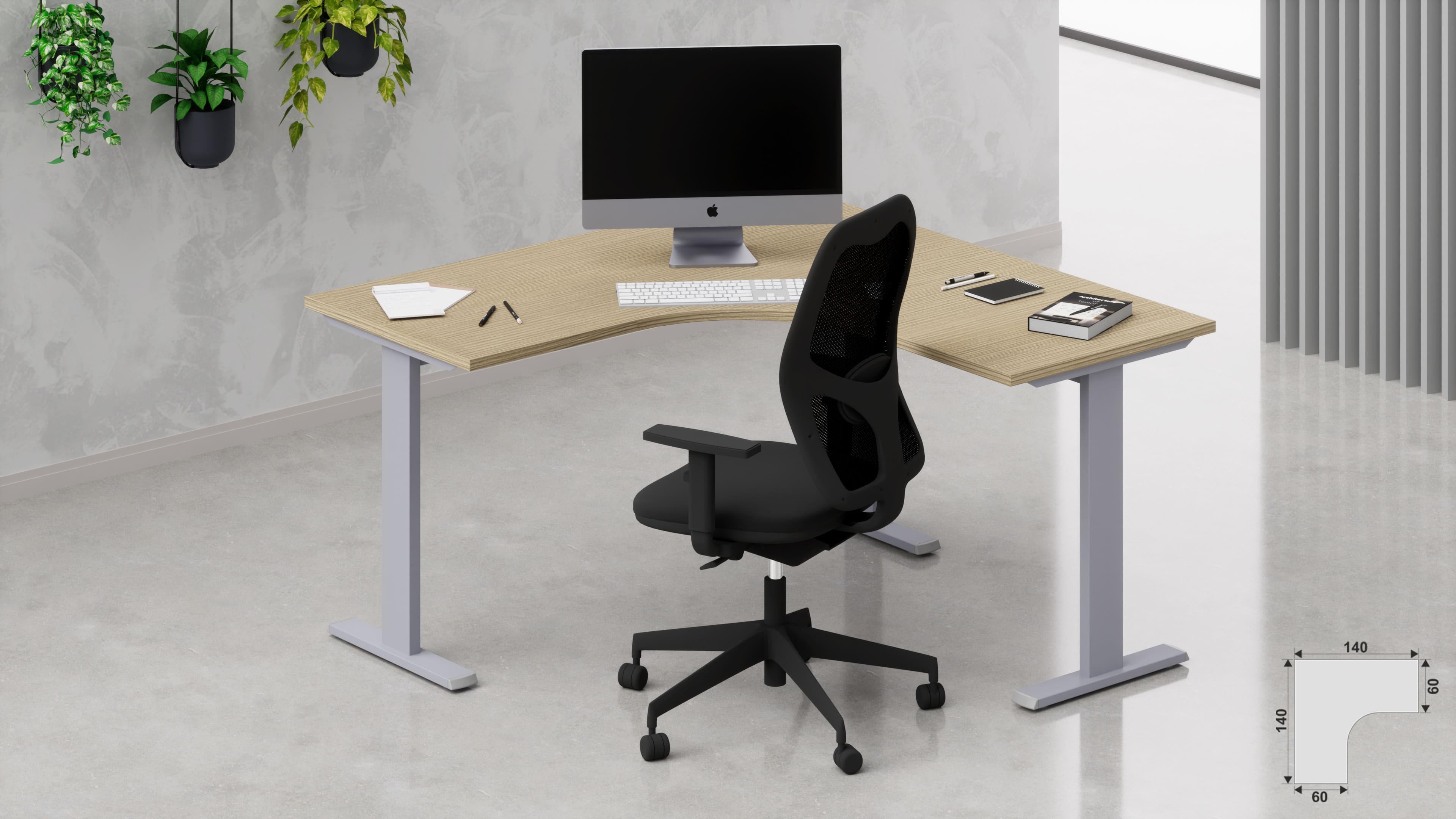 Scrivania workstation ufficio operativa NET metallica L.140/140