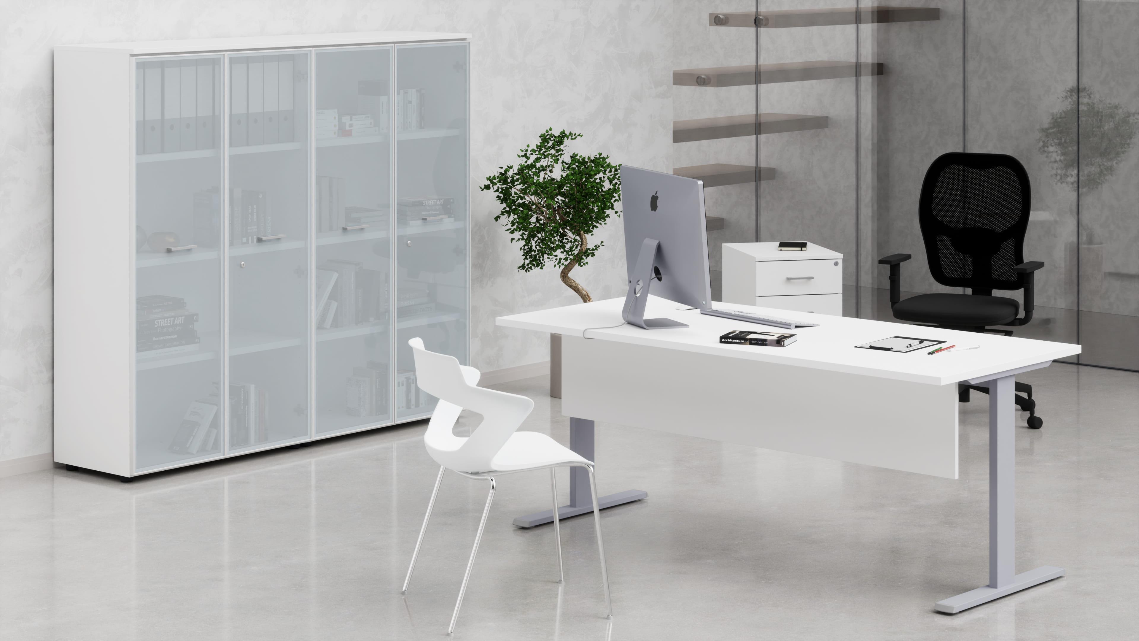 Scrivania metallica a T uffici operativi net metallica