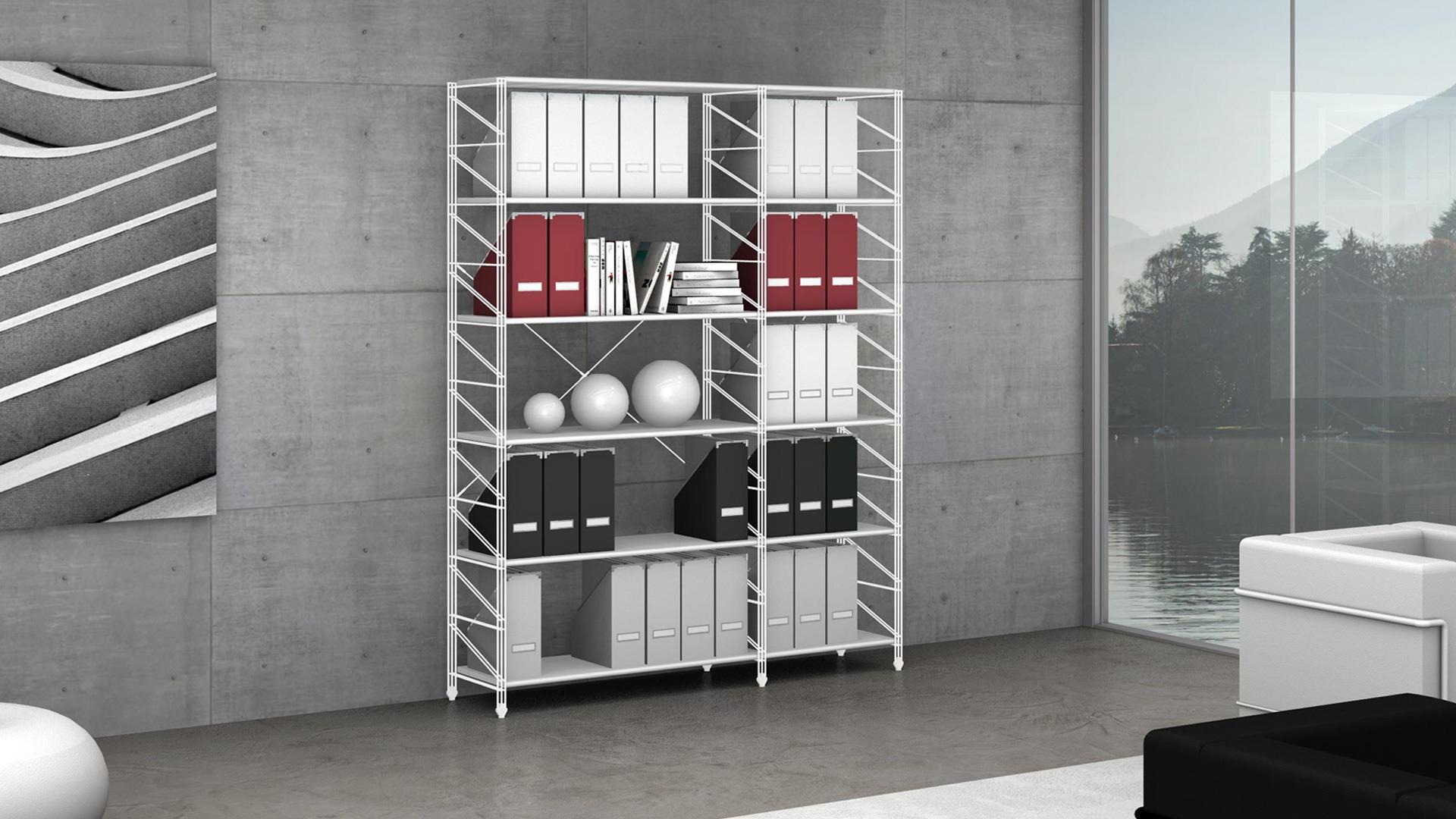 Libreria Metallo Modulare.L0015 Librerie In Metallo Da 800 42 Fumustore