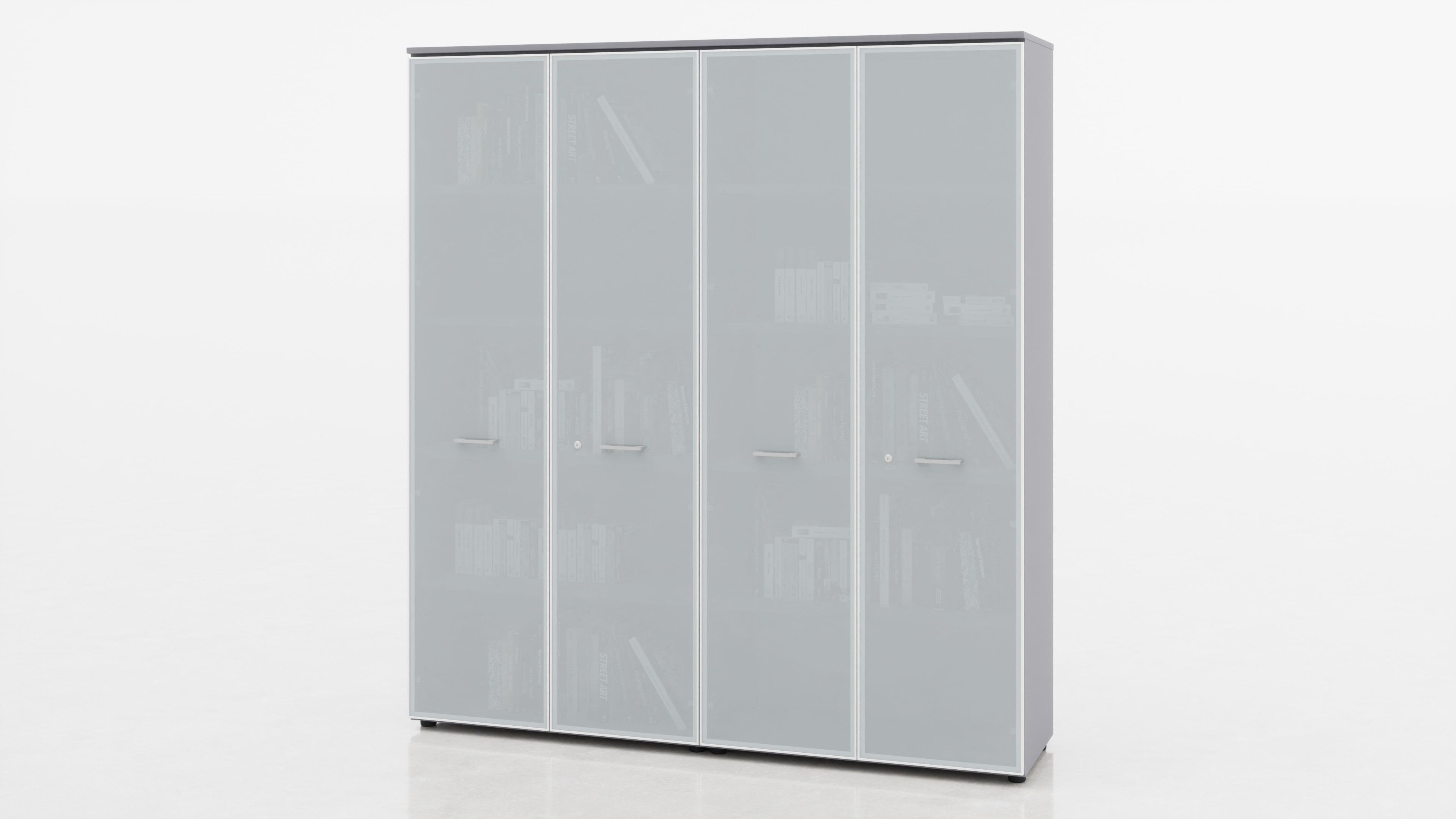 Libreria per ufficio con sportelli