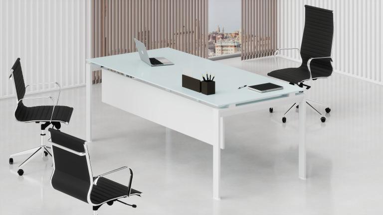 Ss040 vetro scrivanie direzionali ufficio da 557 38 for Scrivanie direzionali