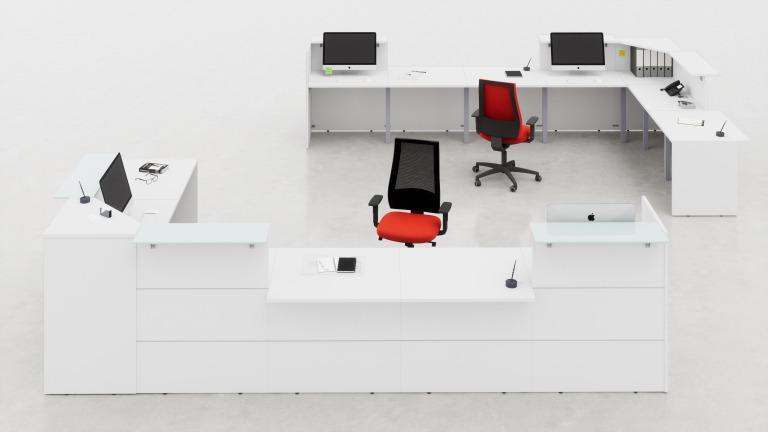 Mobili per reception arredo ufficio fumustore for Banconi reception per ufficio